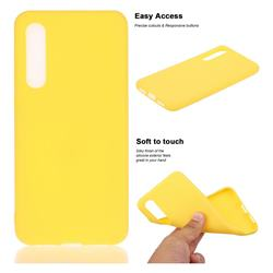 Soft Matte Silicone Phone Cover for Xiaomi Mi 9 SE - Yellow