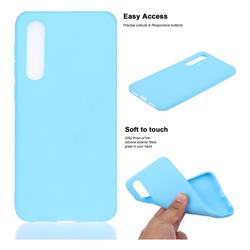 Soft Matte Silicone Phone Cover for Xiaomi Mi 9 SE - Sky Blue