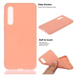 Soft Matte Silicone Phone Cover for Xiaomi Mi 9 SE - Coral Orange