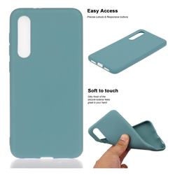 Soft Matte Silicone Phone Cover for Xiaomi Mi 9 SE - Lake Blue