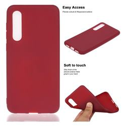 Soft Matte Silicone Phone Cover for Xiaomi Mi 9 SE - Wine Red