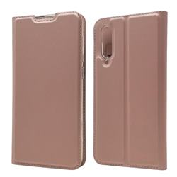 Ultra Slim Card Magnetic Automatic Suction Leather Wallet Case for Xiaomi Mi 9 SE - Rose Gold