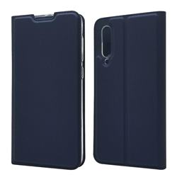Ultra Slim Card Magnetic Automatic Suction Leather Wallet Case for Xiaomi Mi 9 SE - Royal Blue