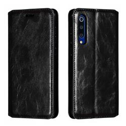 Retro Slim Magnetic Crazy Horse PU Leather Wallet Case for Xiaomi Mi 9 SE - Black