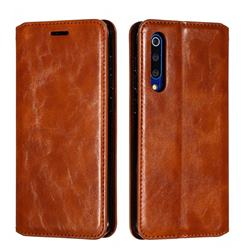 Retro Slim Magnetic Crazy Horse PU Leather Wallet Case for Xiaomi Mi 9 SE - Brown