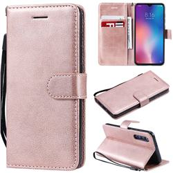 Retro Greek Classic Smooth PU Leather Wallet Phone Case for Xiaomi Mi 9 SE - Rose Gold