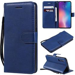 Retro Greek Classic Smooth PU Leather Wallet Phone Case for Xiaomi Mi 9 SE - Blue