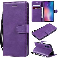 Retro Greek Classic Smooth PU Leather Wallet Phone Case for Xiaomi Mi 9 SE - Purple