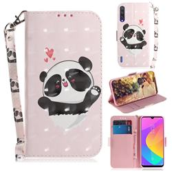 Heart Cat 3D Painted Leather Wallet Phone Case for Xiaomi Mi A3