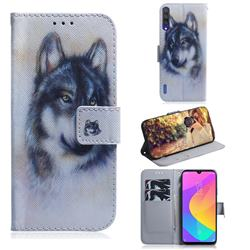 Snow Wolf PU Leather Wallet Case for Xiaomi Mi A3