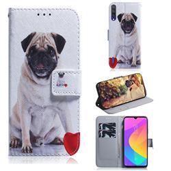 Pug Dog PU Leather Wallet Case for Xiaomi Mi A3