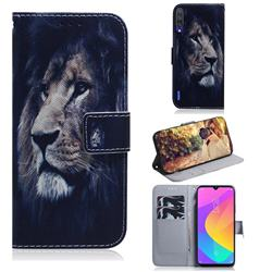 Lion Face PU Leather Wallet Case for Xiaomi Mi A3