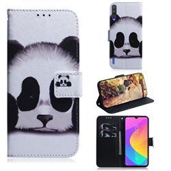 Sleeping Panda PU Leather Wallet Case for Xiaomi Mi A3