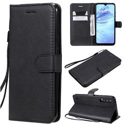 Retro Greek Classic Smooth PU Leather Wallet Phone Case for Xiaomi Mi A3 - Black
