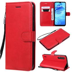Retro Greek Classic Smooth PU Leather Wallet Phone Case for Xiaomi Mi A3 - Red