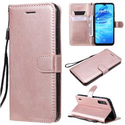Retro Greek Classic Smooth PU Leather Wallet Phone Case for Xiaomi Mi A3 - Rose Gold