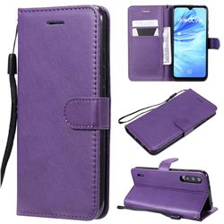 Retro Greek Classic Smooth PU Leather Wallet Phone Case for Xiaomi Mi A3 - Purple