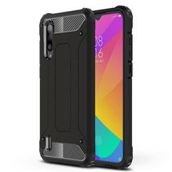 King Kong Armor Premium Shockproof Dual Layer Rugged Hard Cover for Xiaomi Mi CC9 (Mi CC9mt Meitu Edition) - Black Gold