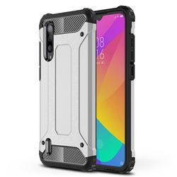 King Kong Armor Premium Shockproof Dual Layer Rugged Hard Cover for Xiaomi Mi CC9 (Mi CC9mt Meitu Edition) - White