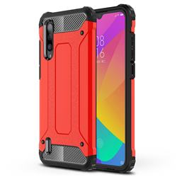 King Kong Armor Premium Shockproof Dual Layer Rugged Hard Cover for Xiaomi Mi CC9 (Mi CC9mt Meitu Edition) - Big Red