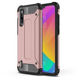 King Kong Armor Premium Shockproof Dual Layer Rugged Hard Cover for Xiaomi Mi CC9 (Mi CC9mt Meitu Edition) - Rose Gold