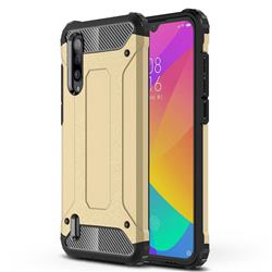 King Kong Armor Premium Shockproof Dual Layer Rugged Hard Cover for Xiaomi Mi CC9 (Mi CC9mt Meitu Edition) - Champagne Gold
