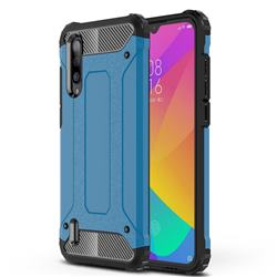 King Kong Armor Premium Shockproof Dual Layer Rugged Hard Cover for Xiaomi Mi CC9 (Mi CC9mt Meitu Edition) - Sky Blue