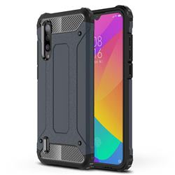 King Kong Armor Premium Shockproof Dual Layer Rugged Hard Cover for Xiaomi Mi CC9 (Mi CC9mt Meitu Edition) - Navy
