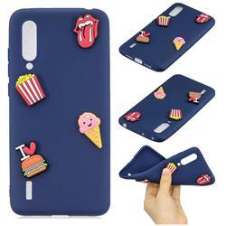 I Love Hamburger Soft 3D Silicone Case for Xiaomi Mi CC9 (Mi CC9mt Meitu Edition)
