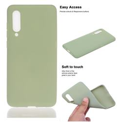 Soft Matte Silicone Phone Cover for Xiaomi Mi CC9 (Mi CC9mt Meitu Edition) - Bean Green