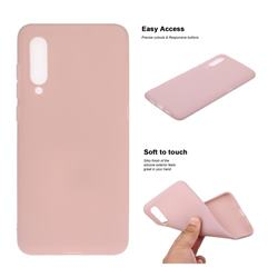 Soft Matte Silicone Phone Cover for Xiaomi Mi CC9 (Mi CC9mt Meitu Edition) - Lotus Color