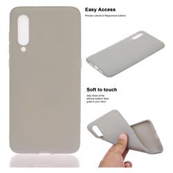 Soft Matte Silicone Phone Cover for Xiaomi Mi CC9 (Mi CC9mt Meitu Edition) - Gray