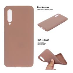 Soft Matte Silicone Phone Cover for Xiaomi Mi CC9 (Mi CC9mt Meitu Edition) - Khaki