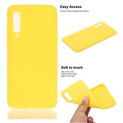 Soft Matte Silicone Phone Cover for Xiaomi Mi CC9 (Mi CC9mt Meitu Edition) - Yellow