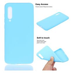 Soft Matte Silicone Phone Cover for Xiaomi Mi CC9 (Mi CC9mt Meitu Edition) - Sky Blue