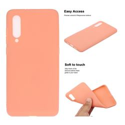 Soft Matte Silicone Phone Cover for Xiaomi Mi CC9 (Mi CC9mt Meitu Edition) - Coral Orange