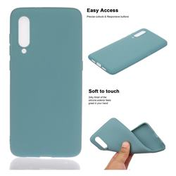 Soft Matte Silicone Phone Cover for Xiaomi Mi CC9 (Mi CC9mt Meitu Edition) - Lake Blue