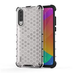 Honeycomb TPU + PC Hybrid Armor Shockproof Case Cover for Xiaomi Mi CC9 (Mi CC9mt Meitu Edition) - Transparent