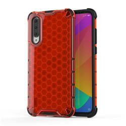 Honeycomb TPU + PC Hybrid Armor Shockproof Case Cover for Xiaomi Mi CC9 (Mi CC9mt Meitu Edition) - Red