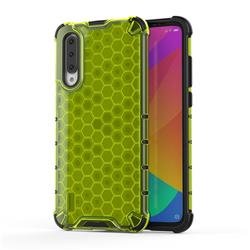 Honeycomb TPU + PC Hybrid Armor Shockproof Case Cover for Xiaomi Mi CC9 (Mi CC9mt Meitu Edition) - Green