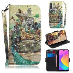 Beast Zoo 3D Painted Leather Wallet Phone Case for Xiaomi Mi CC9 (Mi CC9mt Meitu Edition)