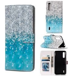 Sea Sand 3D Painted Leather Phone Wallet Case for Xiaomi Mi CC9 (Mi CC9mt Meitu Edition)