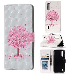 Sakura Flower Tree 3D Painted Leather Phone Wallet Case for Xiaomi Mi CC9 (Mi CC9mt Meitu Edition)