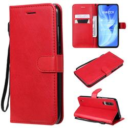 Retro Greek Classic Smooth PU Leather Wallet Phone Case for Xiaomi Mi CC9 (Mi CC9mt Meitu Edition) - Red
