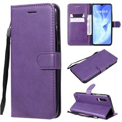 Retro Greek Classic Smooth PU Leather Wallet Phone Case for Xiaomi Mi CC9 (Mi CC9mt Meitu Edition) - Purple