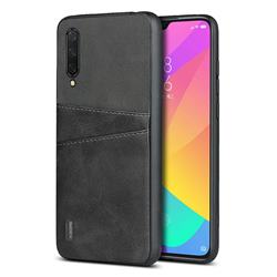 Simple Calf Card Slots Mobile Phone Back Cover for Xiaomi Mi CC9 (Mi CC9mt Meitu Edition) - Black