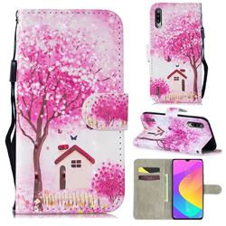 Tree House 3D Painted Leather Wallet Phone Case for Xiaomi Mi CC9 (Mi CC9mt Meitu Edition)