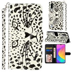 Leopard Panther 3D Leather Phone Holster Wallet Case for Xiaomi Mi CC9 (Mi CC9mt Meitu Edition)
