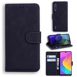 Retro Classic Skin Feel Leather Wallet Phone Case for Xiaomi Mi CC9 (Mi CC9mt Meitu Edition) - Black