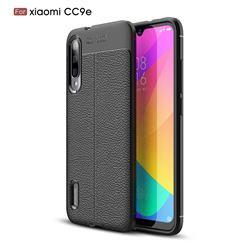 Luxury Auto Focus Litchi Texture Silicone TPU Back Cover for Xiaomi Mi CC9e - Black